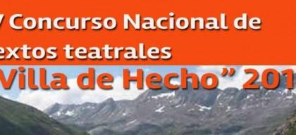 """IV Concurso Nacional de textos teatrales """"Villa de Hecho"""" 2013"""