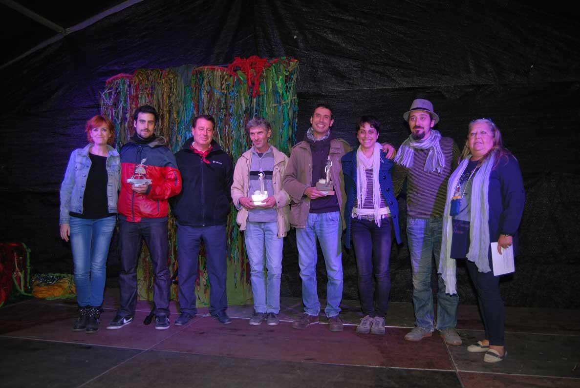 Foto general premiados. Acto de Entrega Premios Parque de las Marionetas 2013 (Foto Abel Alvaredo)