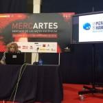 Ana Abán, Gerente de ARES  realizando una presentación en  Mercartes  2014
